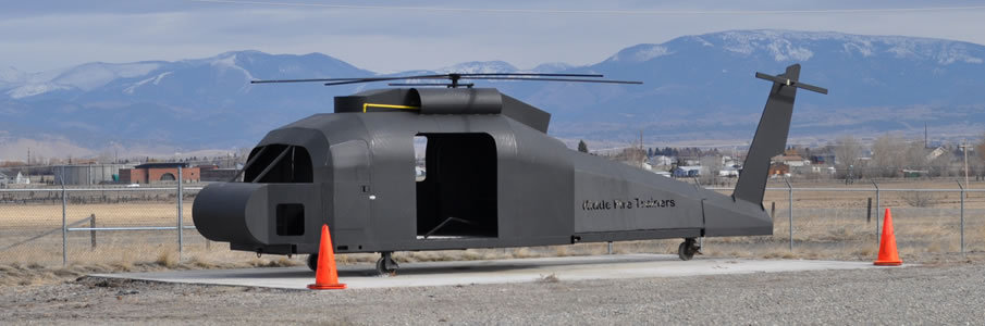 Mobile Blackhawk Helicopter Fire Trainer