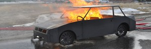 Mobile Car Fire Trainer